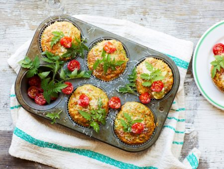 Spinach and Goat's Cheese Savoury Muffins