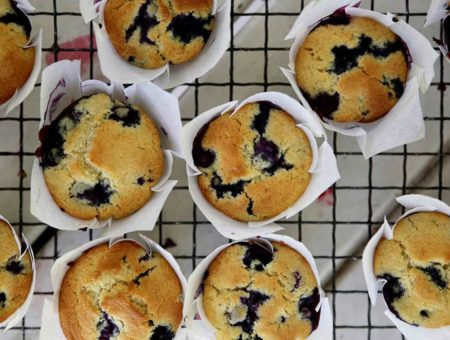 Blueberry and Coconut Muffins