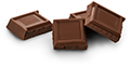 Milk chocolate (up to 4 squares)