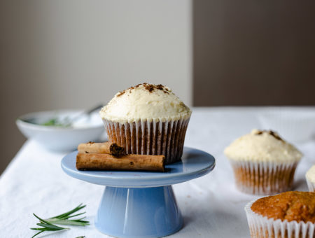 Gingerbread Cupcakes with Salted Maple Icing