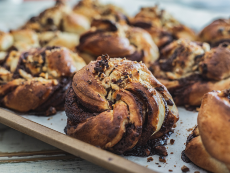 Chocolate Cardamom Easter Buns